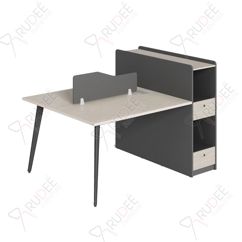 โต๊ะทำงานแบบ2ที่นั่ง1.5m.ตู้ข้างทรงสูง Ramsey Series