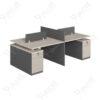 โต๊ะทำงาน4ที่นั่งแบบกลุ่ม มีตู้ข้าง Ramsey Series