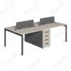 โต๊ะทำงาน4ที่นั่งแบบกลุ่ม มีตู้กลาง Ramsey Series