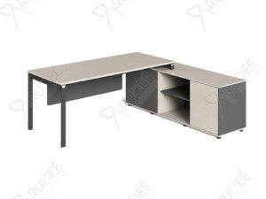 โต๊ะทำงานผู้บริหารทรงตัวแอล2.1ม. Ramsey Series