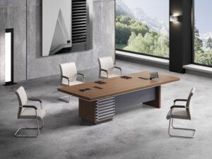 โต๊ะประชุม3.0ม.ขาทรงทึบMeeting Table by Shalott Series