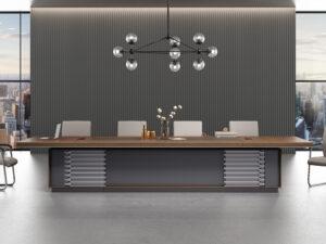 โต๊ะประชุม4.2ม.ขาทรงทึบMeeting Table by Shalott Series