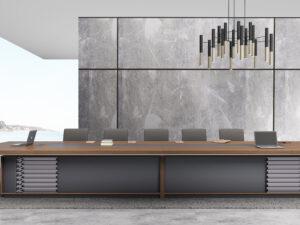 โต๊ะประชุม6.0ม.ขาทรงทึบMeeting Table by Shalott Series