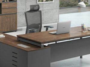 โต๊ะผู้บริหารExecutive Desk 2.1/1.9เมตร Muki Series