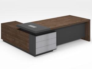 โต๊ะผู้บริหารExecutive Desk 2.4/2.2เมตร Muki Series