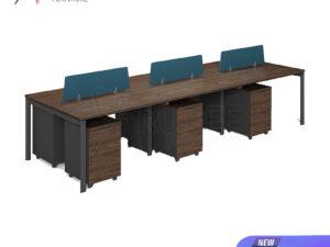 โต๊ะทำงาน6ที่นั่ง แบบกลุ่ม 3.6เมตร Working Desk by Muki Series