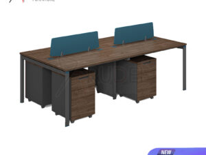 โต๊ะทำงาน4ที่นั่ง แบบกลุ่ม2.4เมตร Working Desk by Muki Series