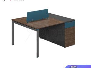 โต๊ะทำงาน2ที่นั่ง แบบกลุ่ม1.2เมตร ตู้ตั้ง Working Desk by Muki Series