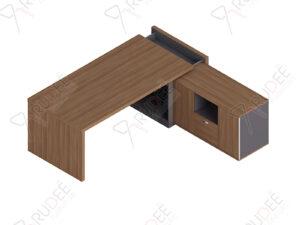 โต๊ะผู้จัดการ ทรงตัวL ขนาด1.8ม. by Shalott Series