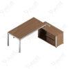 โต๊ะผู้จัดการ ทรงตัวL ขนาด2.0/1.8ม. by Shalott Series