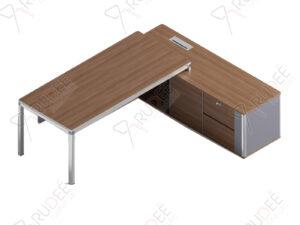 โต๊ะผู้บริหาร ทรงตัวL ขนาด2.3ม. by Shalott Series