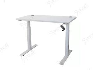โต๊ะปรับระดับเพื่อสุขภาพระบบมือหมุน ERGONOMIC ADJUSTABLE DESK