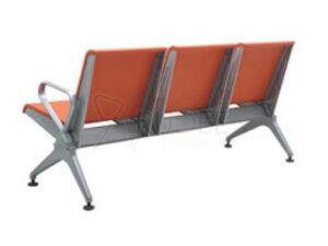 เก้าอี้แถว เบาะPU 3ที่นั่ง เก้าอี้สนามบิน โครงหนาพิเศษ รับน้ำหนักได้กว่า500กิโล