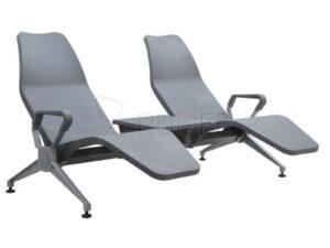 เก้าอี้สาธารณะ เก้าอี้แถว เบาะนอนPU 2ที่นั่งเพิ่มที่วางแก้ว