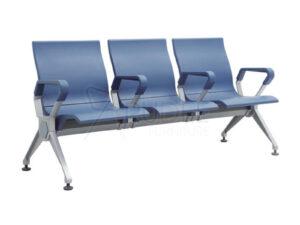เก้าอี้สาธารณะ เก้าอี้แถว เบาะPU 3ที่นั่ง เพิ่มพนักแขนกลาง