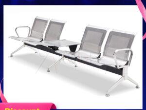 เก้าอี้สแตนเลส4ที่นั่ง มีที่วางแก้วตรงกลาง ราคาส่งโรงงาน