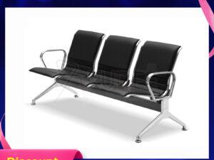 เก้าอี้สแตนเลส3ที่นั่งหุ้มเบาะหนังแบบเต็มตัว