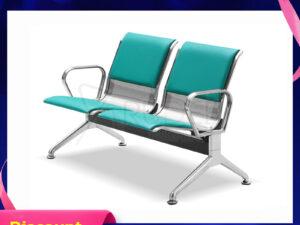 เก้าอี้สแตนเลส2ที่นั่งหุ้มเบาะหนัง ราคาโรงงาน