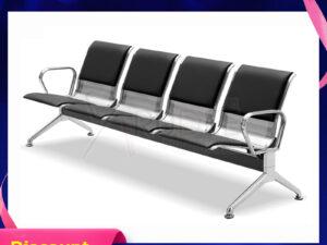 เก้าอี้สแตนเลส4ที่นั่งหุ้มเบาะหนัง